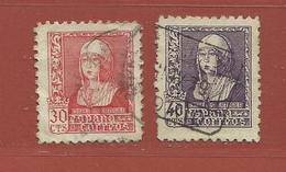 Espagne N° 660 + 661 - 1931-50 Usati