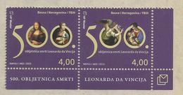 BHHB 2019-03 500A°LEONARDO DA VINCI, BOSNA AND HERCEGOVINA HERCEGBOSNA CROAT, 1 X 2v, MNH - Bosnien-Herzegowina