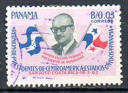 PANAMA. N°376 Oblitéré De 1963. Réunion Des Présidents D'Amérique Centrale. - Panama