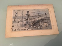 Ancienne Carte Postale - Brodée - Unclassified