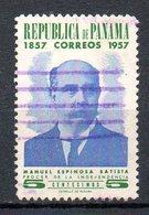 PANAMA. N°310 Oblitéré De 1957. Manuel Espinosa Batista. - Panama