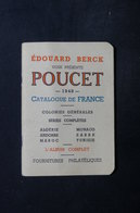 FRANCE - Philatélie - Catalogue De Prix De Vente De La Maison Edouard Berck  De 1948 , Le Poucet - L 30843 - Catalogues De Maisons De Vente