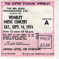 1974 WEMBLEY MUSIC CONCERT CROSBY STILLS NASH YOUNG LAST CONCERT IN EUROPE LONDON LONDRA ULTIMO CONCERTO - Biglietti Per Concerti