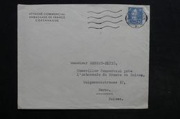 DANEMARK - Enveloppe De L'Ambassade De France De Copenhague Pour L'Ambassade De France En Suisse En 1947 - L 30848 - 1913-47 (Christian X)