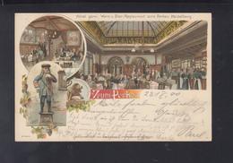 Dt. Reich AK Heidelberg Hotel Restaurant Zum Perkeo 1900 - Heidelberg