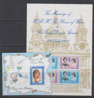 Isle Of Man 1981 + 1982 Wedding +  Royal Baby / Lady Di 2 M/s ** Mnh (42958) - Man (Eiland)