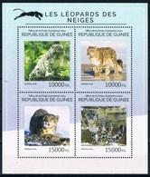 Bloc Sheet Animaux Felins Leopards Animals Wild Cats Neuf  MNH ** Guinee Guine 2014 - Félins