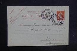 FRANCE - Entier Postal Commerciale ( Repiquage Au Verso ) De Paris Pour L 'Allemagne En 1909 - L 30853 - Entiers Postaux