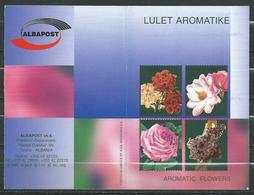 Albania  2001 Flowers - Roses BOOKLET / Carnet ** MNH ( 2 Scan ) - Albanien