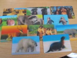 """11 CARTES """"ANIMEES"""" CORA ANIMAUX , AUCUN DOUBLE EXCELLENT ETAT !!! - Autres Collections"""
