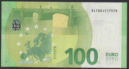 "ITALIA € 100 SC S002 ""00"" -  DRAGHI  UNC - EURO"
