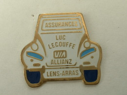 PIN'S CITROËN - 2CV - ASSURANCES LUC LECOUFFE - VIA ALLIANZ - Citroën