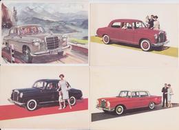 MERCEDES-BENZ - Lot De 6 Cartes Postales Publicitaires - Publicité - Advertising Postcard - Passenger Cars