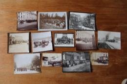 Lot De Photos De Clique Regimentaire 1890 1915 - War, Military