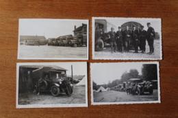 4 Photos Vehicules Gendarmerie 1933 1947  Beaux Plans - Cars