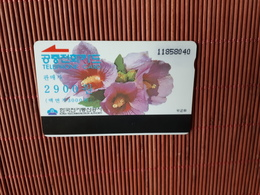 Phonecard Korea Flowers Used - Korea (Zuid)
