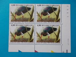 BLOC DE 4    A  - 10 %   N° 3388  DU  25 III 05 - 1985-.. Oiseaux (Buzin)