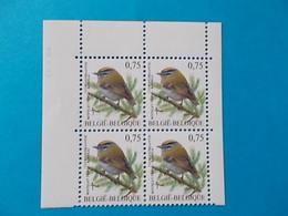 BLOC DE 4      A  - 10 %    N° 3391  DU  30 III 05 - 1985-.. Oiseaux (Buzin)