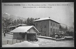 CPA 01 - Les Maladières-sur-Gex, Hôtel-Pension Schärrer - Vue Prise En Hiver - Autres Communes