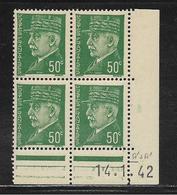 FRANCE  ( FCD4 - 139 )  1941  N° YVERT ET TELLIER  N° 506  N** - Coins Datés