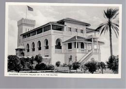 TANZANIA  Zanzibar -- Country Palace Of H.H. The Sultan Ca 1930 OLD PHOTO, POSTCARD - Tanzania