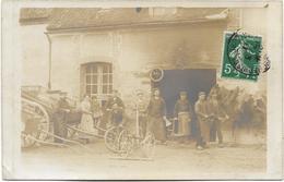 Carte-photo à Situer, Issue D'un Lot De PARIS - Atelier De Charronnage Et Maréchal Ferrant, Animée, Circulé En 1911. - France