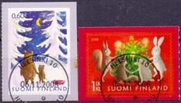 Finland 2008 Kerstzegels GB-USED - Gebraucht