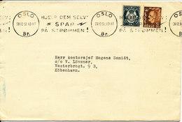 Norway Cover Sent To Denmark Oslo 28-12-1951 (Hjelp Dem Selv SPAR Pa Strömmen) - Covers & Documents