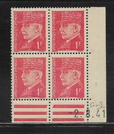 FRANCE  ( FCD4 - 148 )  1941  N° YVERT ET TELLIER  N° 514  N** - Coins Datés