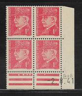 FRANCE  ( FCD4 - 149 )  1941  N° YVERT ET TELLIER  N° 514  N** - Coins Datés