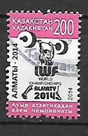 Kazakhstan  2014 World Championship Of Weightlifting  Used - Kazakhstan