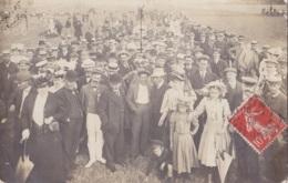 Photo Carte Du Champ De Course De Dieppe Circulée En 1908 Superbe Animation - Dieppe