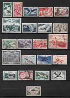 France Timbre De 1946/59  N°16 A 37 Complet Oblitéré (cote 210€) - Poste Aérienne