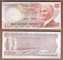 AC  - TURKEY  - 6th EMISSION  20 TL G UNCIRCULATED - Turquie