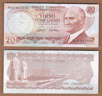AC  - TURKEY  - 6th EMISSION  20 TL H UNCIRCULATED - Turquie