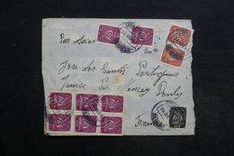 PORTUGAL - Enveloppe Pour La France En 1947 , Affranchissement Plaisant - L 30894 - Lettres & Documents