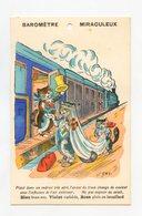 Illustrateur EMY (Bouret) . Baromètre Miraculeux .  Chat  .Cat . Katze . TRAIN - Illustratori & Fotografie