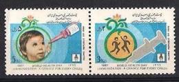 IRAN 1987 - World Health Day, Child, Se-tenant Set Of 2v. MNH - Irán