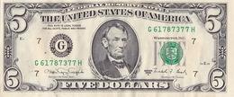 ETATS UNIS D AMERIQUE BILLET DE 5 DOLLARS 1988 ALPHABET G 61787377 - United States Of America