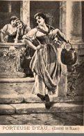CHROMO FIL DE LIN EXTRA HF A LA CARAVANE  PORTEUSE D'EAU  EUGENE DE BLAAS - Chromos