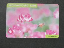 JAPAN HIGHWAY PREPAIDCARD Y 3.000 - Flowers - Giappone
