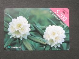 JAPAN HIGHWAY PREPAIDCARD Y 5.200 - Flowers - Giappone