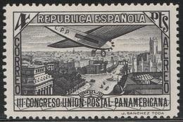 Spain 1931 - Sc C67, 4p, Black - Plane Over Calle De Alcala, Madrid - MVLH - Unused Stamps