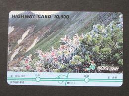 JAPAN HIGHWAY PREPAIDCARD Y 10.500 - Flowers - Giappone