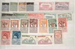 Lot Martinqiue Timbres à Identifier - Postzegels