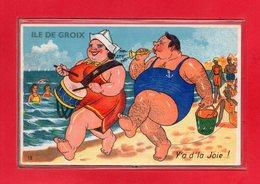 56-CPA ILE DE GROIX - CARTE A SYSTEME DE 10 VUES DE L'ILE DE GROIX - Groix