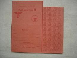 Guerre 39-45 Tickets De Rationnement De Pain Allemand REICHSBROTKARTE Avec Cachet - 1939-45