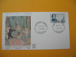FDC 1960  France  N° 1262   Degas  Cachet  Paris - 1960-1969