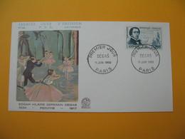 FDC 1960  France  N° 1262   Degas  Cachet  Paris - FDC