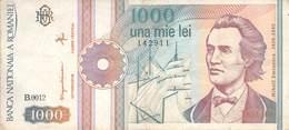 1000 Lei Rumänien 1991 VF/F (III) - Rumänien